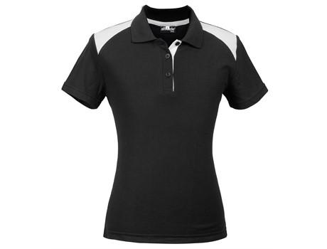 Altitude Clothing Ladies Apex Golf Shirt in Black Code ALT-APL