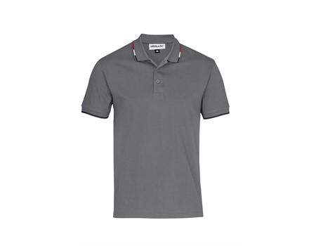 Altitude Mens Ash Golf Shirt in grey Code ALT-ASG
