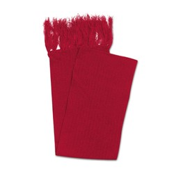 Acrylic Scarf With Single Tassles  Red