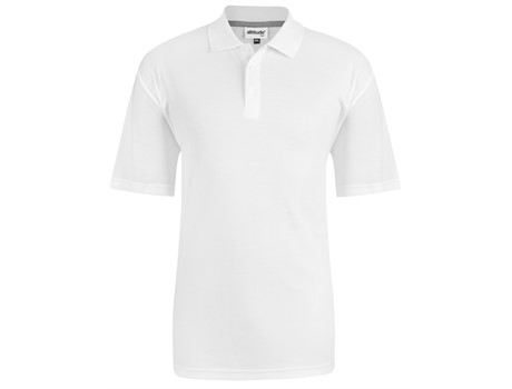Altitude Mens Bayside Golf Shirt in White Code ALT-BAY