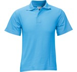 Kids Basic Pique Golf Shirt Cyan