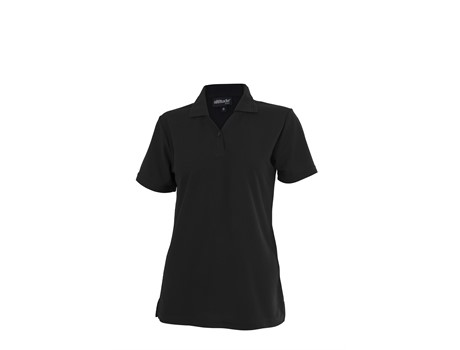 Altitude Ladies Basic Pique Golf Shirt in black Code ALT-BBL