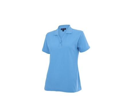 Altitude Clothing Ladies Basic Pique Golf Shirt in Cyan Code ALT-BBL