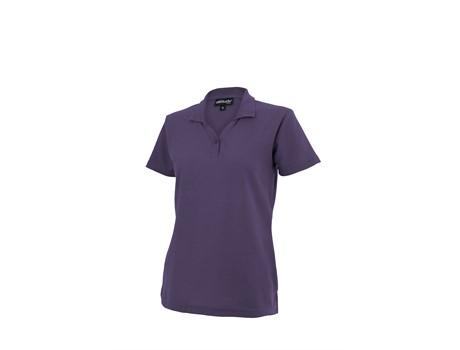 Altitude Clothing Ladies Basic Pique Golf Shirt in Purple Code ALT-BBL