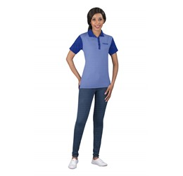 Ladies Crossfire Melange Golf Shirt