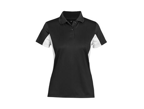 Altitude Clothing Ladies Championship Golf Shirt in Black Code ALT-CPGL