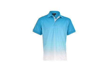 Altitude Mens Dakota Golf Shirt in aqua Code ALT-DKG