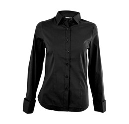 Denise Long Sleeve Blouse  Black Only
