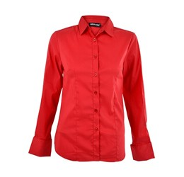 Denise Long Sleeve Blouse  Red Only