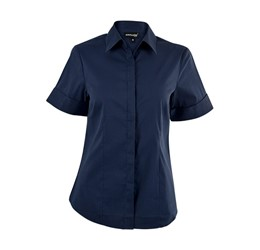 Denise Short Sleeve Blouse  Navy Only