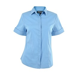 Denise Short Sleeve Blouse  Sky Blue Only