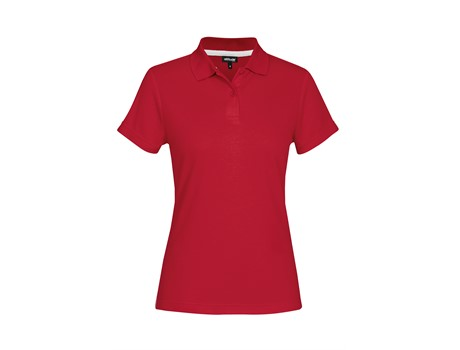 Altitude Clothing Ladies Bayside Golf Shirt in Red Code ALT-LBS