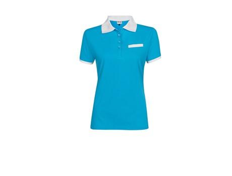 Altitude Ladies Caliber Golf Shirt in Aqua Code ALT-LCA
