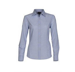 Ladies Long Sleeve Earl Shirt Sky Blue