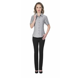 Ladies Short Sleeve Oxford Shirt