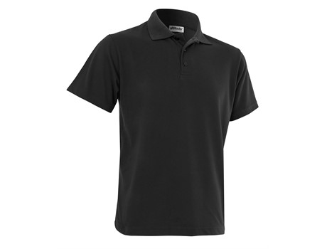Altitude Clothing Mens Melrose Heavyweight Golf Shirt in Black Code ALT-MHP