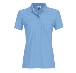 Ladies Milan Golf Shirt Sky Blue