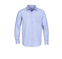 Mens Long Sleeve Northampton Shirt Sky Blue