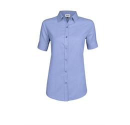 Ladies Short Sleeve Nottingham ShirtNavy