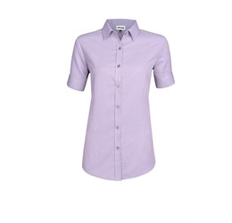 Ladies Short Sleeve Nottingham ShirtPurple