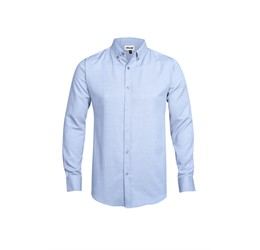 Mens Long Sleeve Nottingham ShirtSky Blue