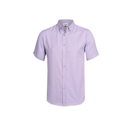 Mens Short Sleeve Nottingham Shirt Purple