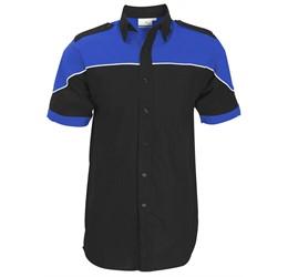 Mens Short Sleeve Racer Shirt  Royal Blue Only