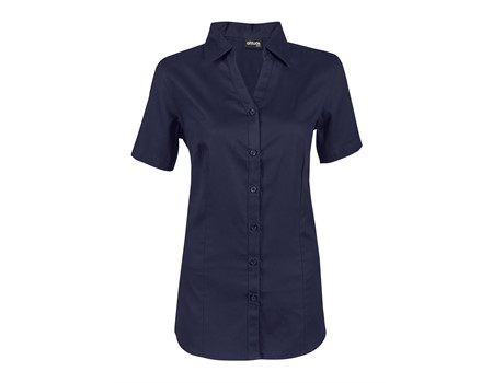 Ladies Short Sleeve Seattle Twill Shirt Johannesburg