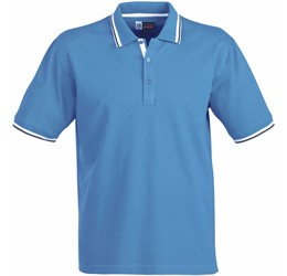 Golfers - Mens City Golf Shirt  Blue Only