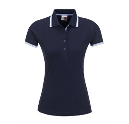 Golfers - Ladies City Golf Shirt  Navy Only