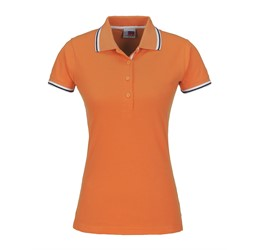 Golfers - Ladies City Golf Shirt  Orange Only