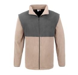 Mens Benneton ZipOff Micro Fleece Jacket  Khaki Only