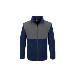 Mens Benneton ZipOff Micro Fleece Jacket  Navy Only