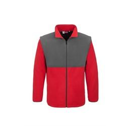 Mens Benneton ZipOff Micro Fleece Jacket  Red Only