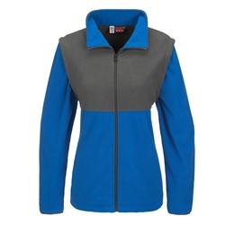 Ladies Benneton ZipOff Micro Fleece Jacket  Blue Only