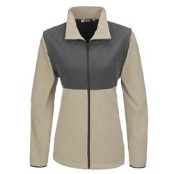 Ladies Benneton ZipOff Micro Fleece Jacket  Khaki Only