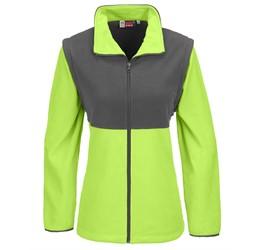 Ladies Benneton ZipOff Micro Fleece Jacket  Lime Only