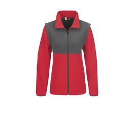 Ladies Benneton ZipOff Micro Fleece Jacket  Red Only