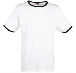 Mens Adelaide Contrast TShirt  Black Only