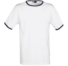 Mens Adelaide Contrast TShirt  White with Navy Only