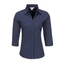 Ladies 3/4 Sleeve Metro Shirt  Navy Only