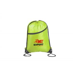 Doubleup Drawstring Bag  Lime Only