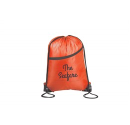 Doubleup Drawstring Bag  Red Only