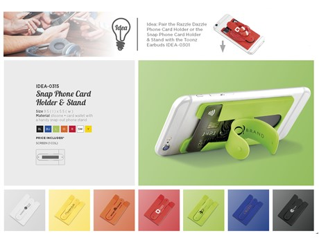 big sale f825c b08c1 Snap Card Wallet And Phone Stand | IDEA-0315