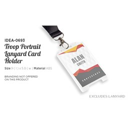 Troop Portrait Lanyard Card Holder