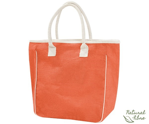 Product: Ecojute Jamaica Natural Fibre Bag - Orange Only