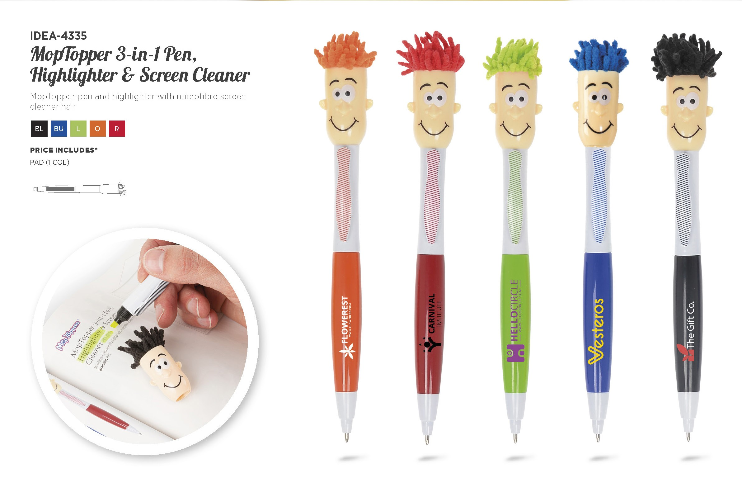 Product: Moptopper 3-In-1 Pen Highlighter