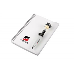 Moptopper A5 Notebook And Pen  Black Only