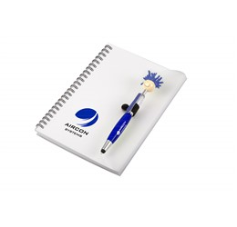 Moptopper A5 Notebook And Pen  Blue Only