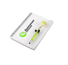 Moptopper A5 Notebook And Pen  Lime Only
